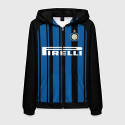 Толстовка 3D на молнии мужская Inter FC: Home 17/18 цвета 3D-черный — фото 1