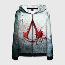 Толстовка 3D на молнии мужская Assassins Creed цвета 3D-черный — фото 1