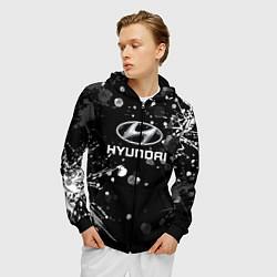 Толстовка 3D на молнии мужская HYUNDAI цвета 3D-черный — фото 2