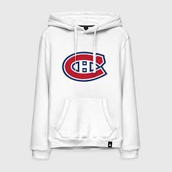 Толстовка-худи хлопковая мужская Montreal Canadiens цвета белый — фото 1