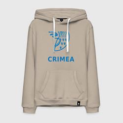 Толстовка-худи хлопковая мужская Crimea цвета миндальный — фото 1