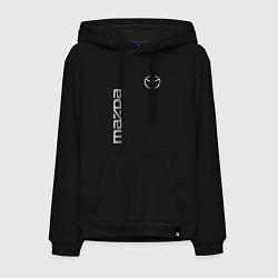Толстовка-худи хлопковая мужская Mazda Style цвета черный — фото 1