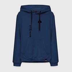 Толстовка-худи хлопковая мужская Motrhead Peak цвета тёмно-синий — фото 1