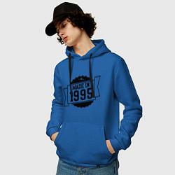 Толстовка-худи хлопковая мужская Made in 1995 цвета синий — фото 2
