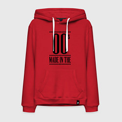 Толстовка-худи хлопковая мужская Made in the 00s цвета красный — фото 1