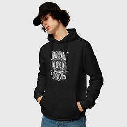Толстовка-худи хлопковая мужская Parkway Drive цвета черный — фото 2