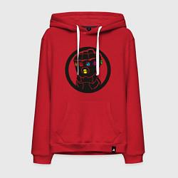 Толстовка-худи хлопковая мужская Infinity Gauntlet цвета красный — фото 1