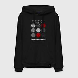 Толстовка-худи хлопковая мужская TOP: Blurryface цвета черный — фото 1
