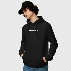 Толстовка-худи хлопковая мужская Rammstein цвета черный — фото 2