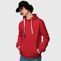 Толстовка-худи хлопковая мужская Ferrari цвета красный — фото 2