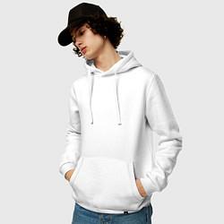Толстовка-худи хлопковая мужская Какой есть цвета белый — фото 2