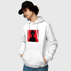 Толстовка-худи хлопковая мужская Mob psycho 100 Z цвета белый — фото 2