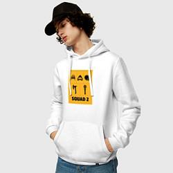 Толстовка-худи хлопковая мужская Squad 2 цвета белый — фото 2