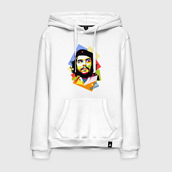 Толстовка-худи хлопковая мужская Che Guevara Art цвета белый — фото 1