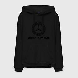 Толстовка-худи хлопковая мужская AMG цвета черный — фото 1