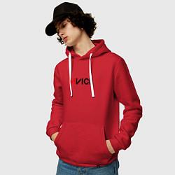 Толстовка-худи хлопковая мужская Avicii цвета красный — фото 2