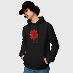 Толстовка-худи хлопковая мужская Red Hot Chili Peppers цвета черный — фото 2