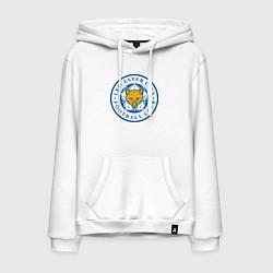 Толстовка-худи хлопковая мужская Leicester City FC цвета белый — фото 1