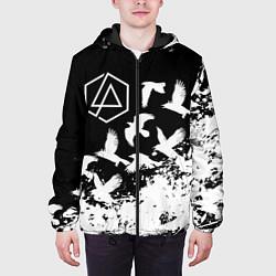 Куртка с капюшоном мужская LINKIN PARK 1 цвета 3D-черный — фото 2