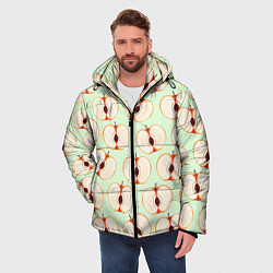 Куртка зимняя мужская Молодильные яблочки цвета 3D-черный — фото 2