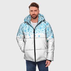 Куртка зимняя мужская Снежинки цвета 3D-черный — фото 2