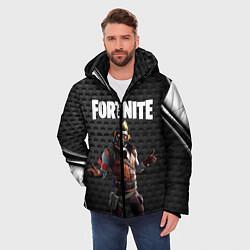 Куртка зимняя мужская FORTNITE цвета 3D-черный — фото 2