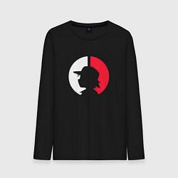 Лонгслив хлопковый мужской Эш: ловец покемонов цвета черный — фото 1