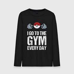 Лонгслив хлопковый мужской Gym Everyday цвета черный — фото 1