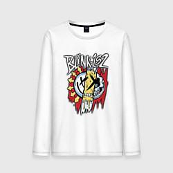 Лонгслив хлопковый мужской Blink-182: Mixed Up цвета белый — фото 1