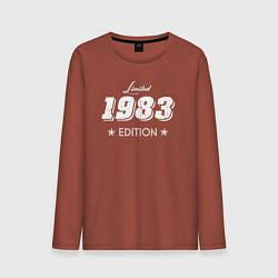 Лонгслив хлопковый мужской Limited Edition 1983 цвета кирпичный — фото 1