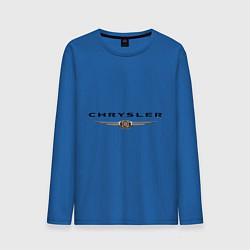 Лонгслив хлопковый мужской Chrysler logo цвета синий — фото 1