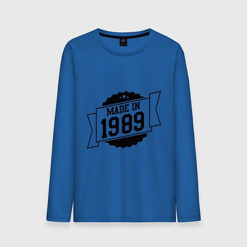 Мужской лонгслив Made in 1989 / Синий – фото 1