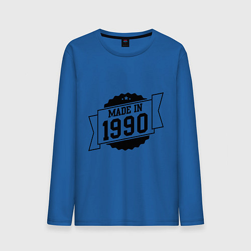 Мужской лонгслив Made in 1990 / Синий – фото 1