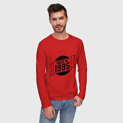 Мужской лонгслив Made in 1995 / Красный – фото 3