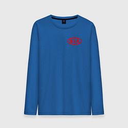 Лонгслив хлопковый мужской KIA цвета синий — фото 1