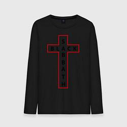 Мужской хлопковый лонгслив с принтом Black Sabbath, цвет: черный, артикул: 10034405100015 — фото 1