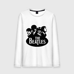 Лонгслив хлопковый мужской The Beatles Band цвета белый — фото 1