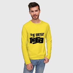 Лонгслив хлопковый мужской The best of 1969 цвета желтый — фото 2