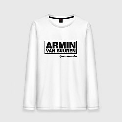 Лонгслив хлопковый мужской Armin van Buuren цвета белый — фото 1