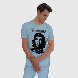 Пижама хлопковая мужская Che Guevara цвета мягкое небо — фото 2