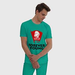 Пижама хлопковая мужская ВЛКСМ цвета зеленый — фото 2