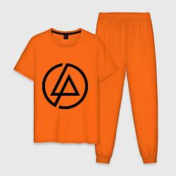 Пижама хлопковая мужская Linkin Park: Sybmol цвета оранжевый — фото 1