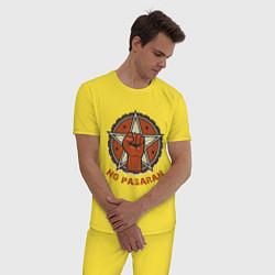 Пижама хлопковая мужская No Pasaran цвета желтый — фото 2