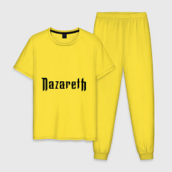 Пижама хлопковая мужская Nazareth цвета желтый — фото 1