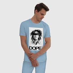 Пижама хлопковая мужская Bob Marley Dope цвета мягкое небо — фото 2