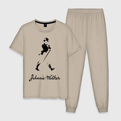 Пижама хлопковая мужская Johnnie Walker цвета миндальный — фото 1