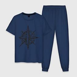 Пижама хлопковая мужская Pirats цвета тёмно-синий — фото 1