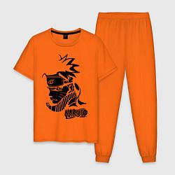 Пижама хлопковая мужская Naruto цвета оранжевый — фото 1