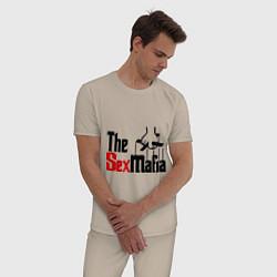 Пижама хлопковая мужская The SexMafia цвета миндальный — фото 2