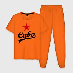 Пижама хлопковая мужская Cuba Star цвета оранжевый — фото 1